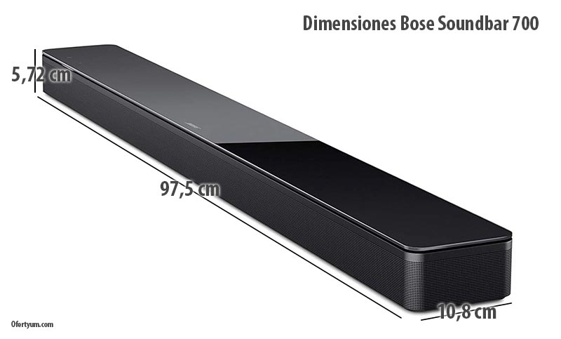 Dimensiones Bose Soundbar 700