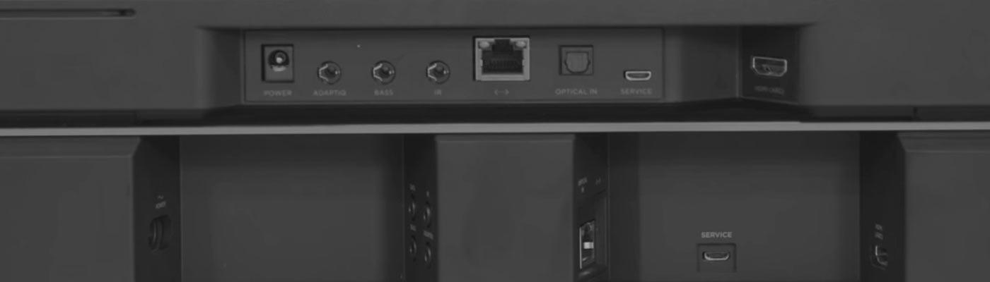 Conexiones Bose soundbar 700 y 500