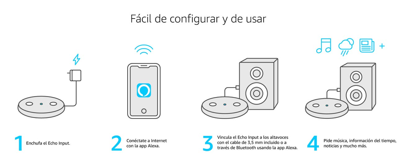 Configuración Amazon Echo Input