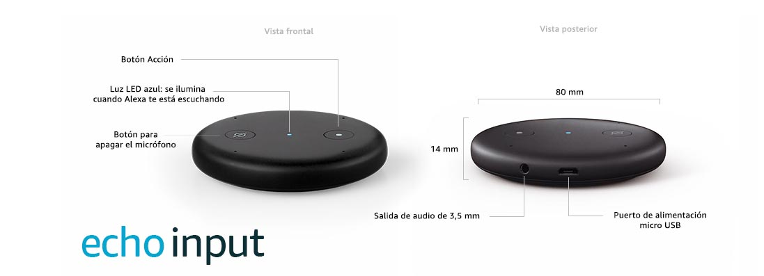 Opiniones Amazon Echo Input