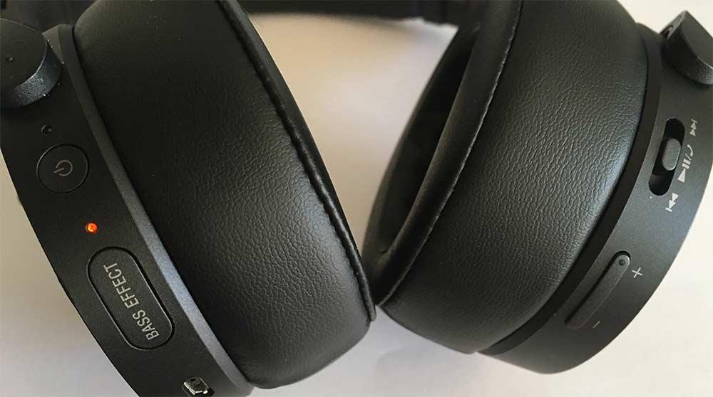 sony mdr-xb950N1B controles